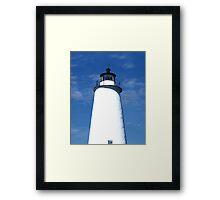 Ocracoke Light Framed Print