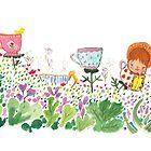 Teacup Garden by fluffymafi