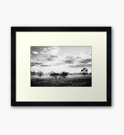 white hills Framed Print