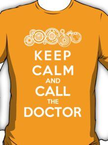 Keep Calm And Call The Doctor (Gallifreyan Version) T-Shirt