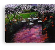 Nuit dans le jardin Canvas Print