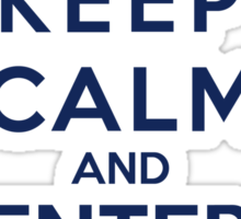 Keep Calm And Enter The Tardis (Color Version) Sticker