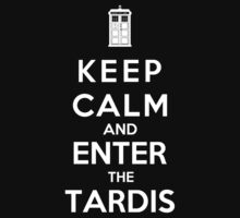 Keep Calm And Enter The Tardis Kids Clothes