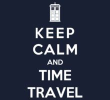 Keep Calm And Time Travel Kids Clothes