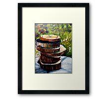 Stacked Gravures sur bois 1 Framed Print