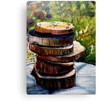Stacked Gravures sur bois 1 Canvas Print