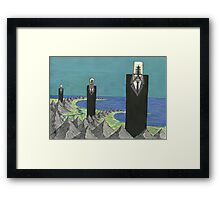 The Three Suited Giants Framed Print