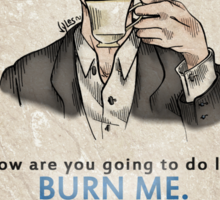 Burning Tea Sticker