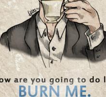Burning Tea Sticker