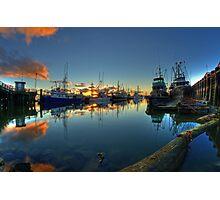 Last lights in Steveston, British Columbia Photographic Print
