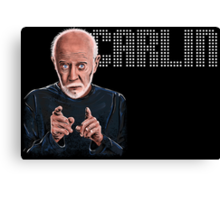 George Carlin - Comic Timing Canvas Print
