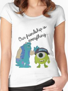 Mike and Sulley - Bestfriends Women's Fitted Scoop T-Shirt