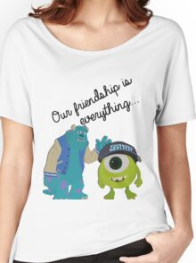 Mike and Sulley - Bestfriends Women's Relaxed Fit T-Shirt