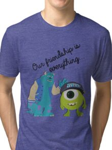 Mike and Sulley - Bestfriends Tri-blend T-Shirt