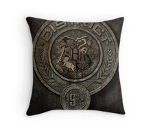 The Hunger Games and Hogwarts clash Throw Pillow