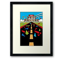 Retro - Arcade Pole Position (1982) Framed Print
