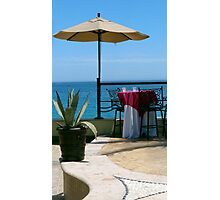 Seaside Table Photographic Print