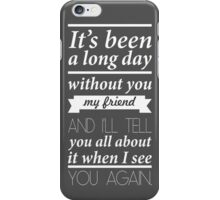 Fast and furious 7 Song words   iPhone Case/Skin
