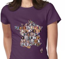 French hexagons Womens Fitted T-Shirt