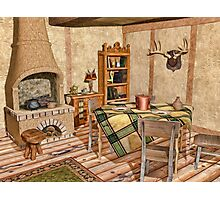 Humble Rustic Home - Country Cottage Interior Photographic Print