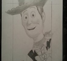 Toy Story's Woody, hand drawn by MDucrow