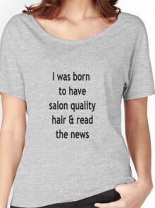 Burgundy Salon Quality Hair Women's Relaxed Fit T-Shirt