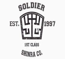 Shinra SOLDIER Final Fantasy VII One Piece - Short Sleeve