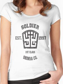 Shinra SOLDIER Final Fantasy VII Women's Fitted Scoop T-Shirt