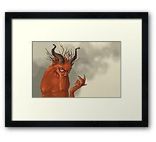 Red Troll Framed Print