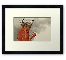 Red Troll Framed Print