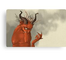Red Troll Canvas Print