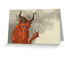 Red Troll Greeting Card