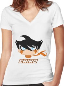 SRMTHFG: Chiro Women's Fitted V-Neck T-Shirt