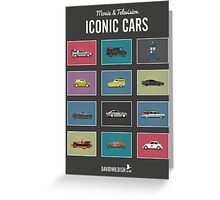 Iconic Cars - Collection Greeting Card
