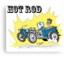 Collour hot-rod on wheels! (1) Canvas Print