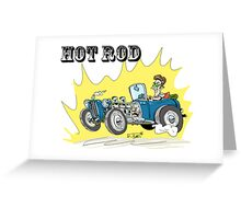 Collour hot-rod on wheels! (1) Greeting Card