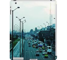 Streets, cars and people. iPad Case/Skin