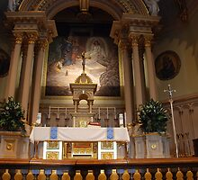 The Altar of Reservation - St. Mary's Historical Church by John Schneider