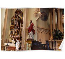 John the Baptist Altar & Sacred Heart - St. Mary's Historical Church Poster