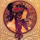 Mucha - Donna Orechini by William Martin