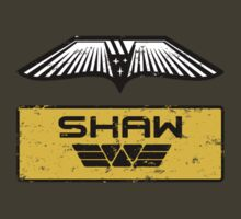 Dr. Elizabeth M. Shaw - Prometheus (Wings and Patch) Weyland Logo by James Ferguson - Darkinc1