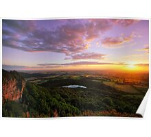 Sutton Bank sunset Poster
