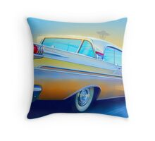 The Future is in the Past Throw Pillow