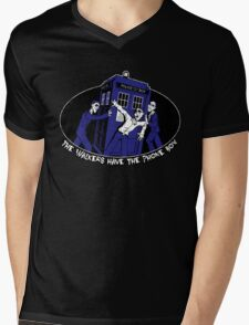 The Walkers have the Phonebox Mens V-Neck T-Shirt