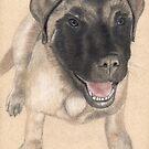 Commisioned English Mastiff Portrait by Nicole I Hamilton