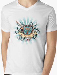 7 Notes Mens V-Neck T-Shirt