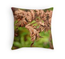Brown Ferns Throw Pillow