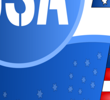 USA Flag Design with No.1 in the World  Sticker