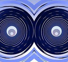 Blue Owl Eyes by Phil Perkins