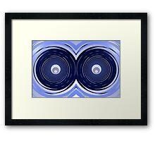 Blue Owl Eyes Framed Print